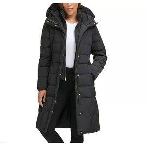 Cole Haan Box Quilt Down Puffer Jacket Black Size Medium NWT
